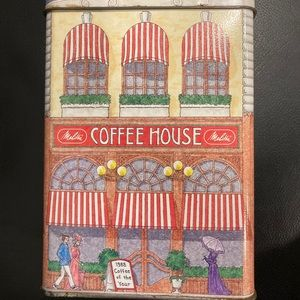 Vintage Melitta Coffee House Tin